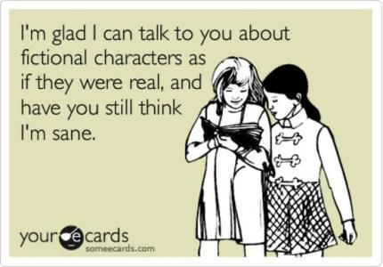 Fictional Characters via someecards / Oosa Book Club - peoplewhowrite