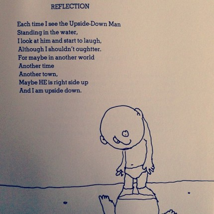 "Shel Silverstein's ""Reflection"" on the Upside-Down Man - peoplewhowrite"