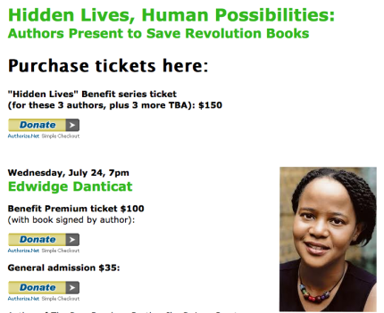 Edwidge Danticat to help save Revolution Books_peoplewhowrite