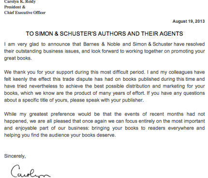 Simon and Schuster Announces Truce with Barnes and Noble_peoplewhowrite