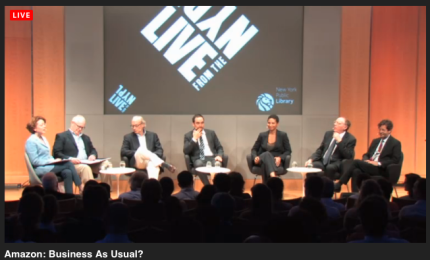 Publishing industry debates Amazon Hachette LivefromNYPL_peoplewhowrite