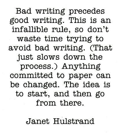 Janet Hulstrand on the Good Thing About Bad Writing