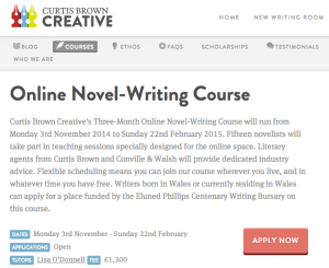Curtis Brown Creative Online Novel Writing Course_peoplewhowrite