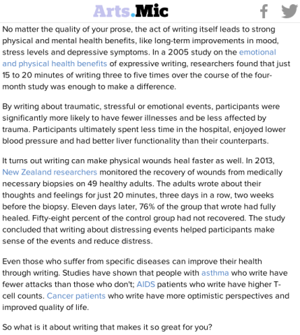 2005 Study Shows Writing Heals Strengthens mmunity_peoplewhowrite via Mic.com