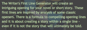 Writers Den First Line Generator_peoplewhowrite