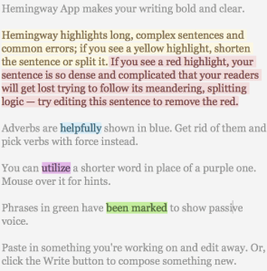 Hemingway Editor App Highlights Common Writing Mistakes - peoplewhowrite