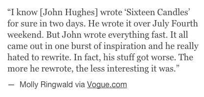 John Hughes wrote The Breakfast Club in 2 Days_peoplewhowrite