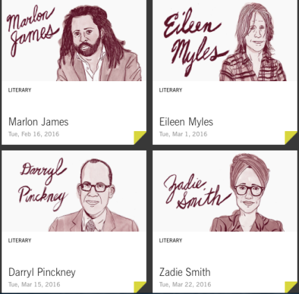 BAM_Eat Drink Be Literary with Marlon James, Zadie Smith, Eileen Myles, Darryl Pinckey_peoplewhowrite